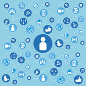 Social-Media-design — Stockvektor