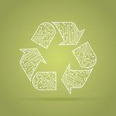 Recyklační okruh — Stock vektor