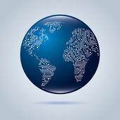 Okruh kontinenty — Stock vektor