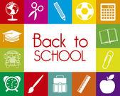 De volta à escola — Vetor de Stock