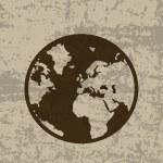 Planet brown — Stock Vector