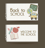 Back to school — Cтоковый вектор