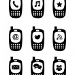 Phones icons  — Grafika wektorowa