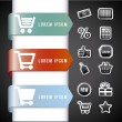 Infographics shopping — Vector de stock #26110521