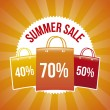 Summer sale — Vector de stock
