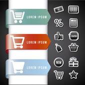 Infografía de compras — Vector de stock