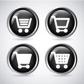 Shopping carts buttons — Stock Vector