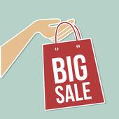 Big sale bag — Stock Vector