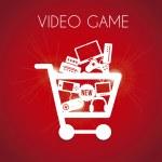 Video game shopping — Stock Vector #26127839