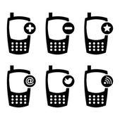 Iconos móviles — Vector de stock