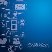 Mobile design — Stock Vector