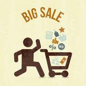 Big sale shopping — Stock Vector