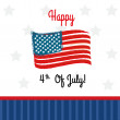 Happy fourt of july — Stock Vector