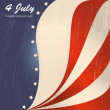 Fourth july — Vector de stock #26150715