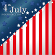 Stockvector : Fourth july flag