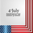 Vector de stock : Fourth july