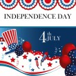 Fourth the july — Image vectorielle