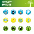 Ecology buttons — Stock Vector