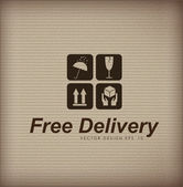 Free delivery vintage — Stock Vector