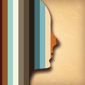 Profile design — Stock Vector