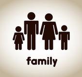 Family icon — Stock Vector