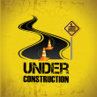 Stock Vector: Under construction design