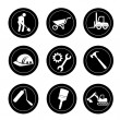 Constructions icons — Stock Vector