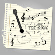 I love the song  — Image vectorielle
