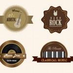 Music frames — Stock Vector