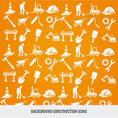 Background construction icons — Stock Vector