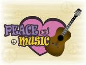Frieden und musik — Stockvektor