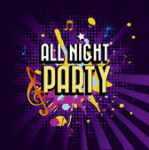 All night party — Stock Vector