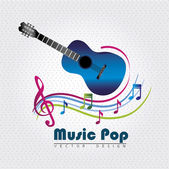 Music pop — Stock Vector