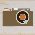 Camera vintage — Stock Vector