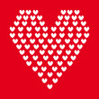 Hearts pixel design — Vecteur #26342091