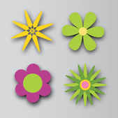 λουλουδια σχεδιασμό — Διανυσματικό Αρχείο
