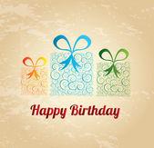 Happy birthday gift — Stock Vector