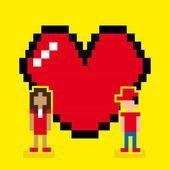 Love pixel design — Stock Vector