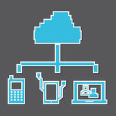 Technological pixel design — Stock Vector