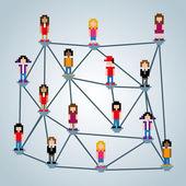 Network pixel design — Stock Vector