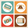 Royalty-Free Stock Vector Image: Old icons design