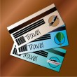 Stock Vector: Travels tickets