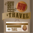 Vector de stock : Travel label