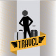 Stock Vector: Travel silhouettes