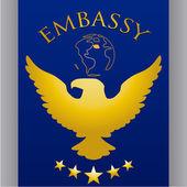 Embassy design — Stock Vector
