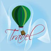 Travel ballon — Stock Vector