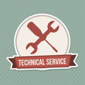Technical service design — Stockvector