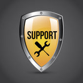 Support shield — Stock Vector