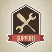 Support design — Vector de stock