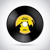 Vinyl record icon — Stock Vector